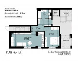 Apartament 2 camere parter Gheorghe Ionescu Sisesti nr. 32