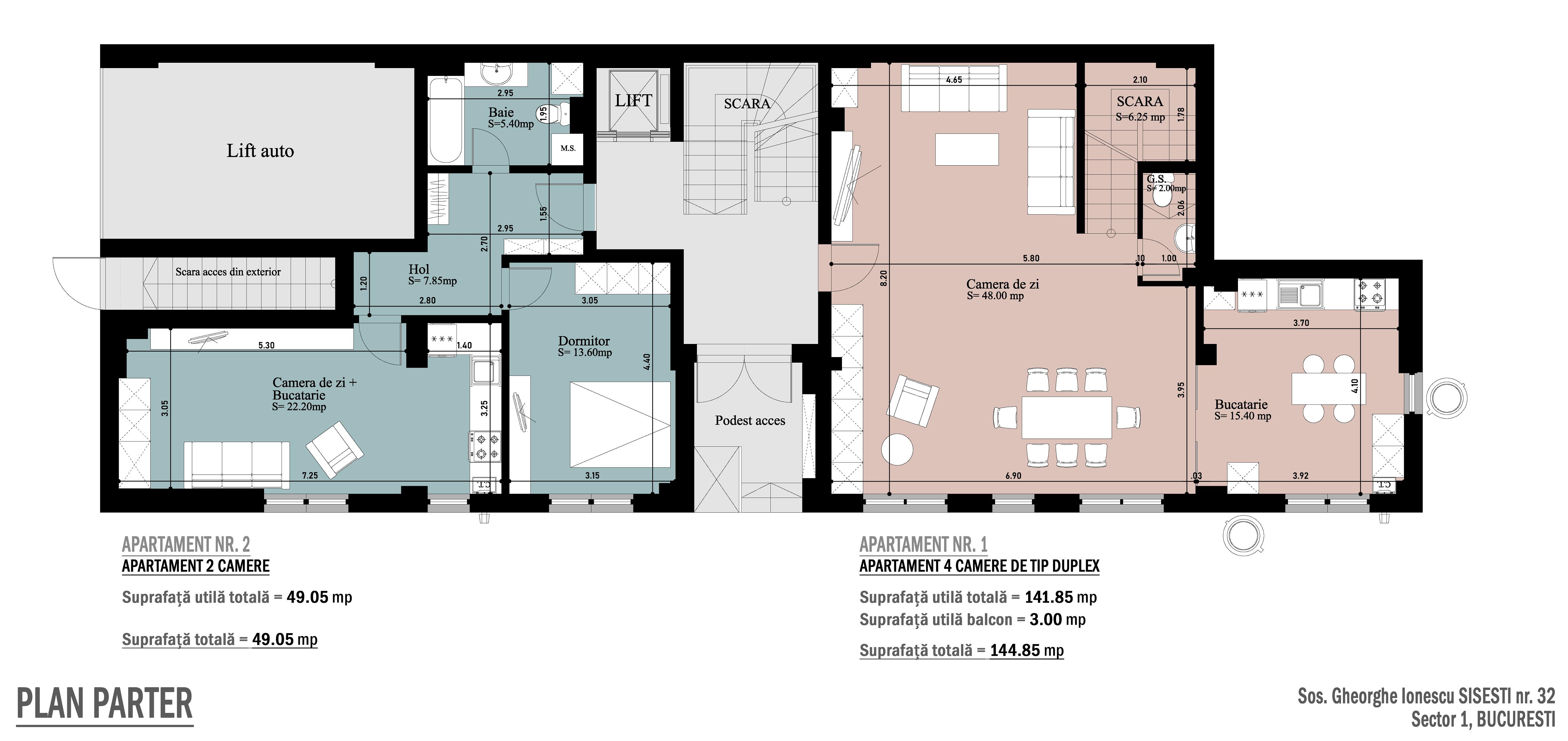 Plan parter Sisesti Residence